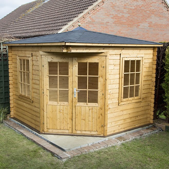 Asmund corner log cabin build tuin tuindeco blog for Selling a log home
