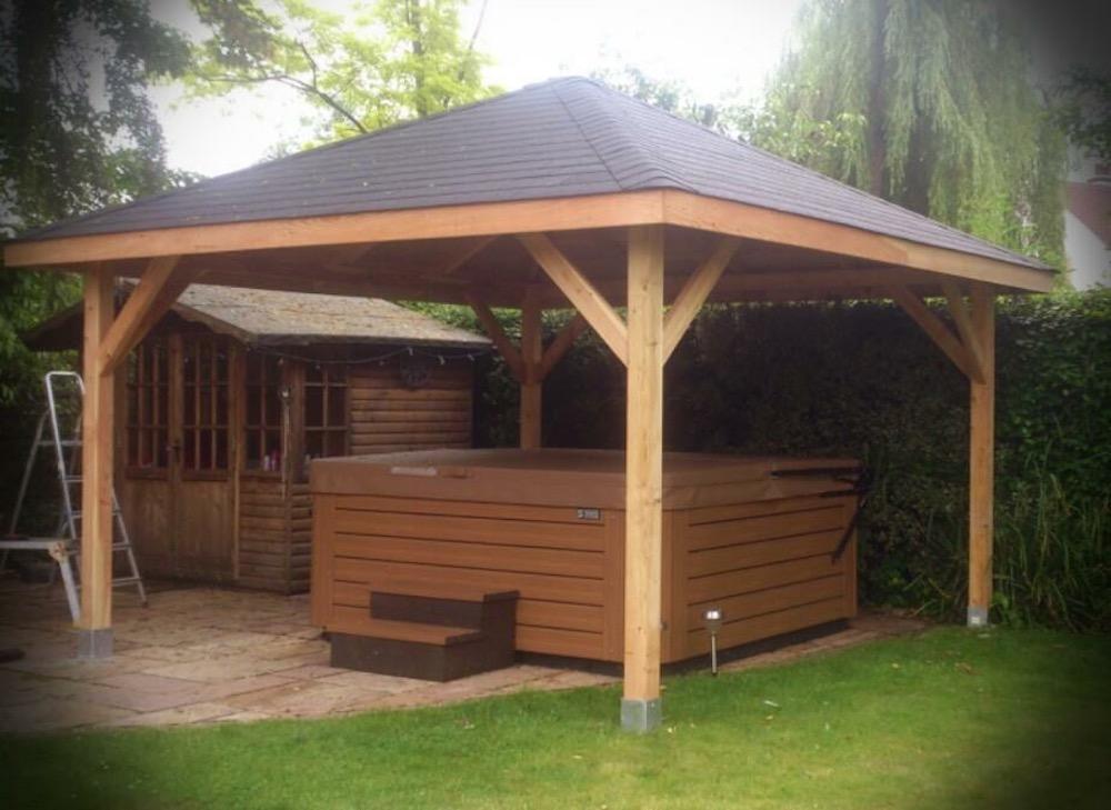 Pergola In Tuin : Log cabin hot tub covers tuin tuindeco