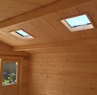 Log Cabin roof vent skylight