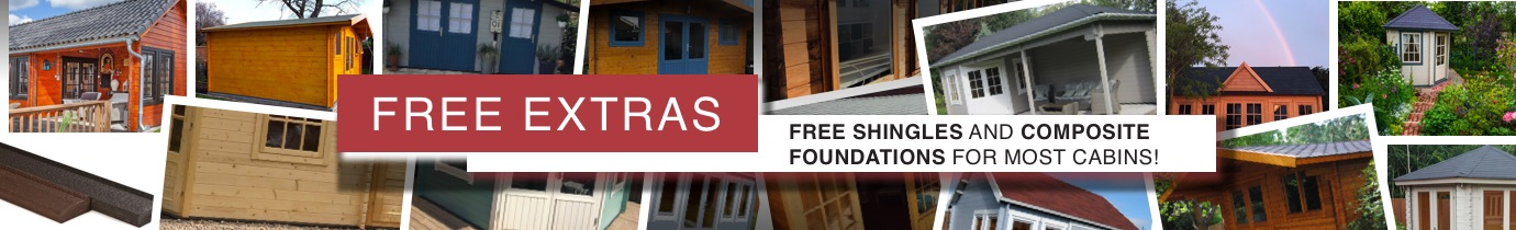 FREE composite foundations and FREE roof shingles offer