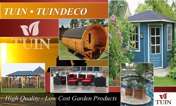 Tuin for log cabins, garden products, fencing, gazebo\'s, sauna, decking, and so much more