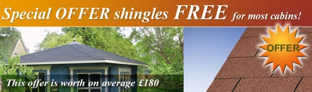 FREE roof shingles on most log cabins