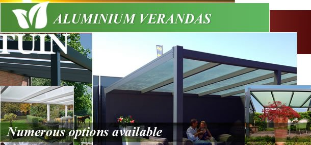 Aluminium verandas and garden canopies
