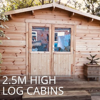 2.5m Height Log Cabins