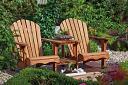 Hardwood love seat.
