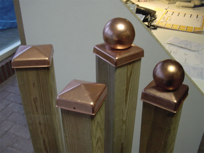 Copper post cap