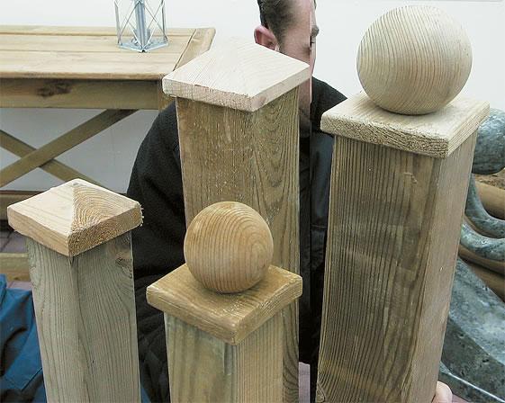 Wooden post caps