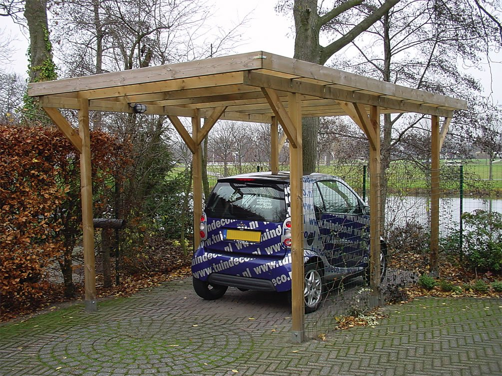 Free standing lean to carport