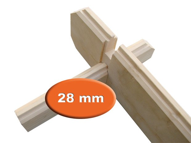 28mm end wall logs