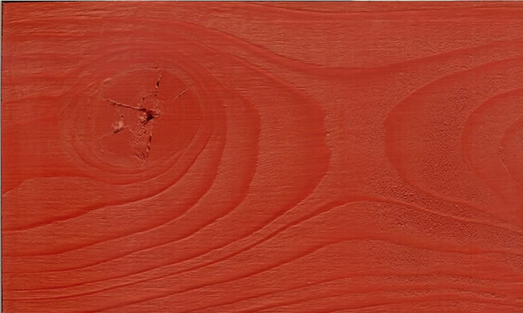 Red timber paint