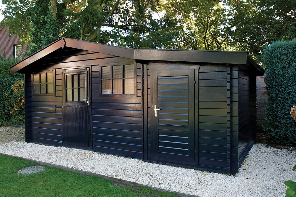 Storage Shed Cabins : Mm log cabin storage annexe m
