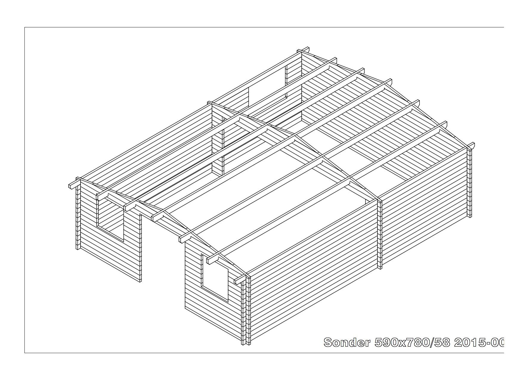 bespoke log cabin example plans