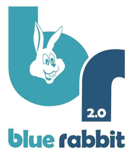 The Hut Uk Logo: Blue Rabbit Beach Hut Kit