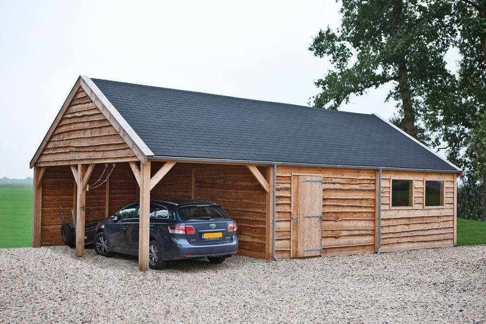 Building with natural larch cladding