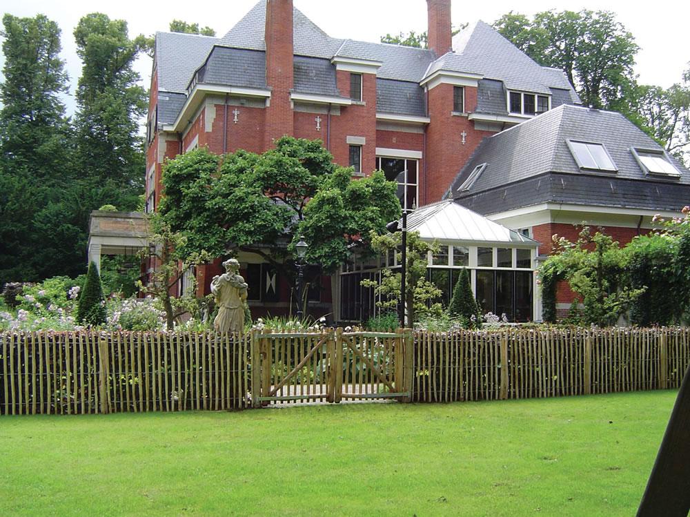 Chestnut fence gate