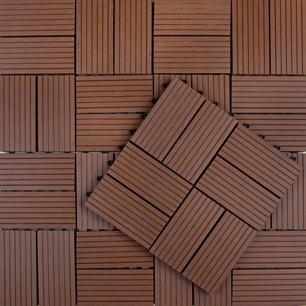 Composite decking tile Composite flooring for decks