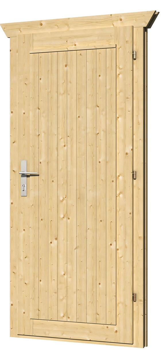 40.2014L/R Single Solid Door - D5 - W83 x H190cm - Left or fight handed