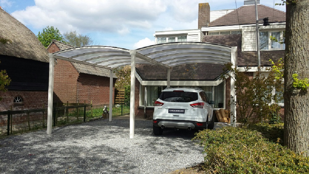 double arched aluminium carport. Black Bedroom Furniture Sets. Home Design Ideas