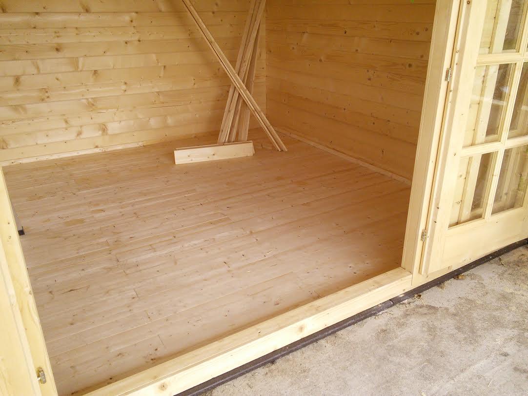wooden floor pack for log cabins