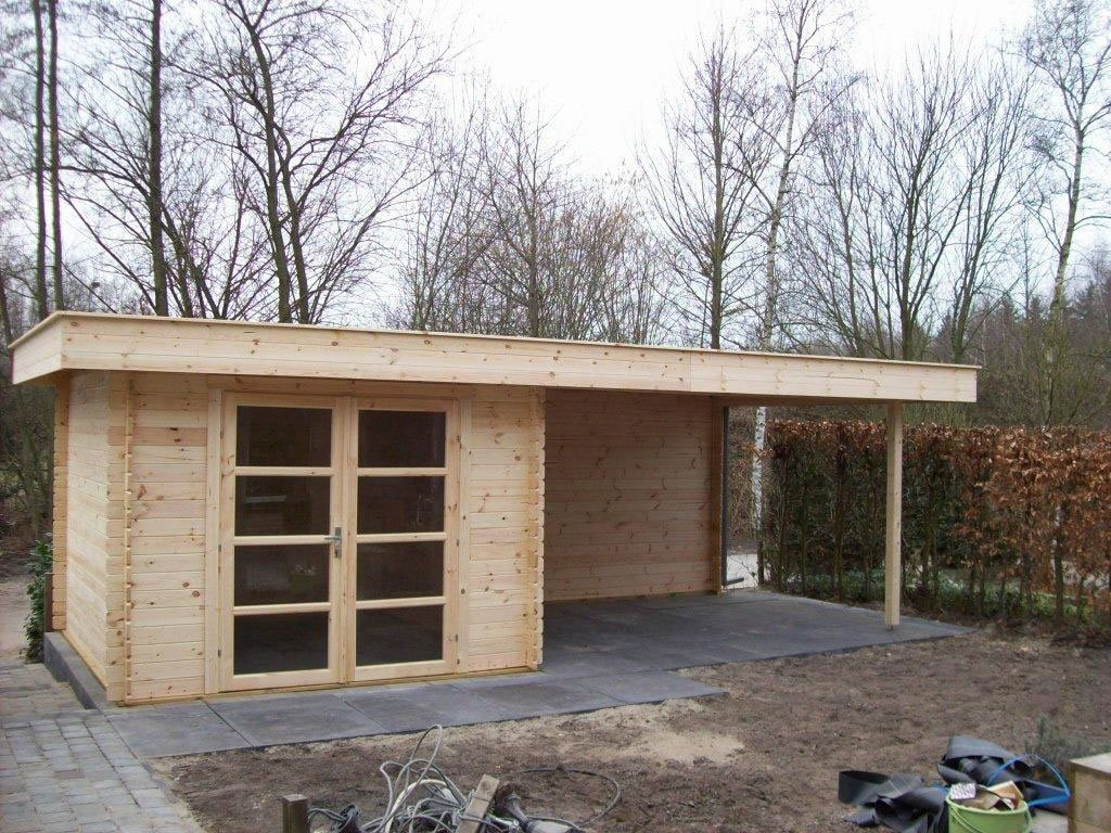 Hattem Modern Log Cabin With A Die Covered Canopy