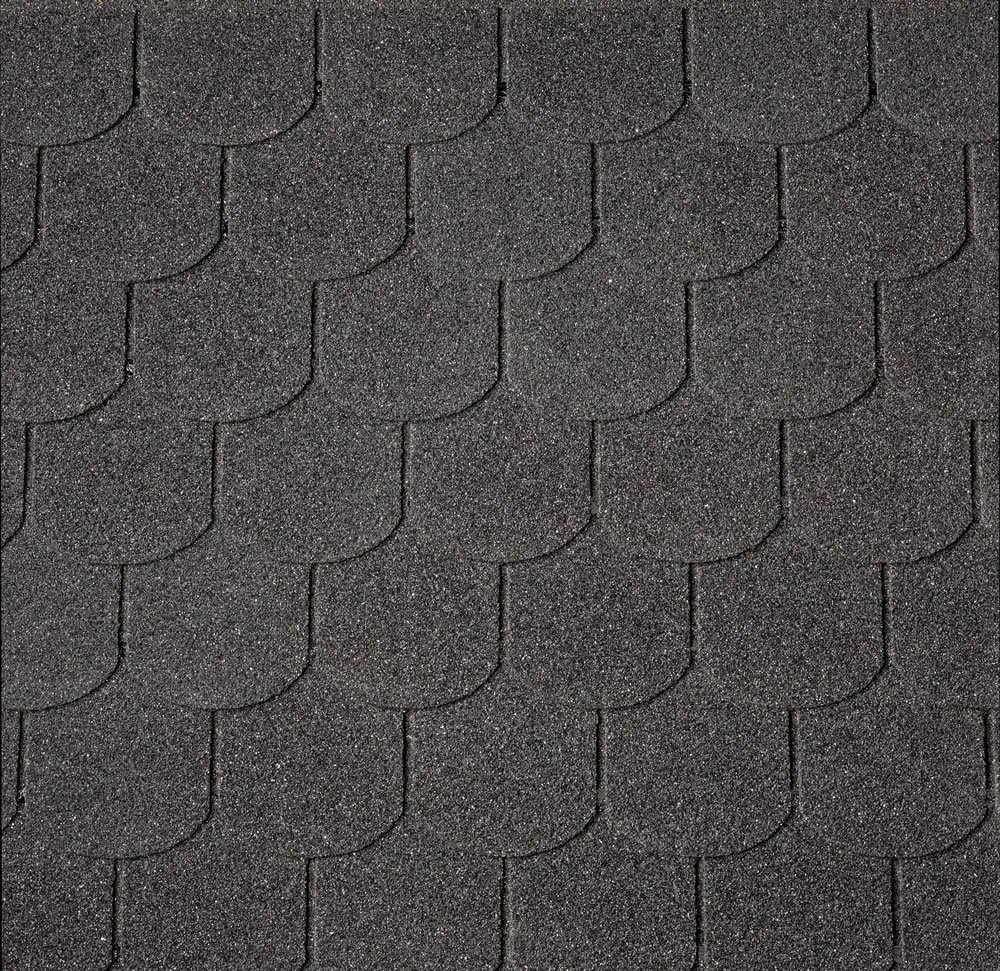 IKO Curved Black Felt Shingles