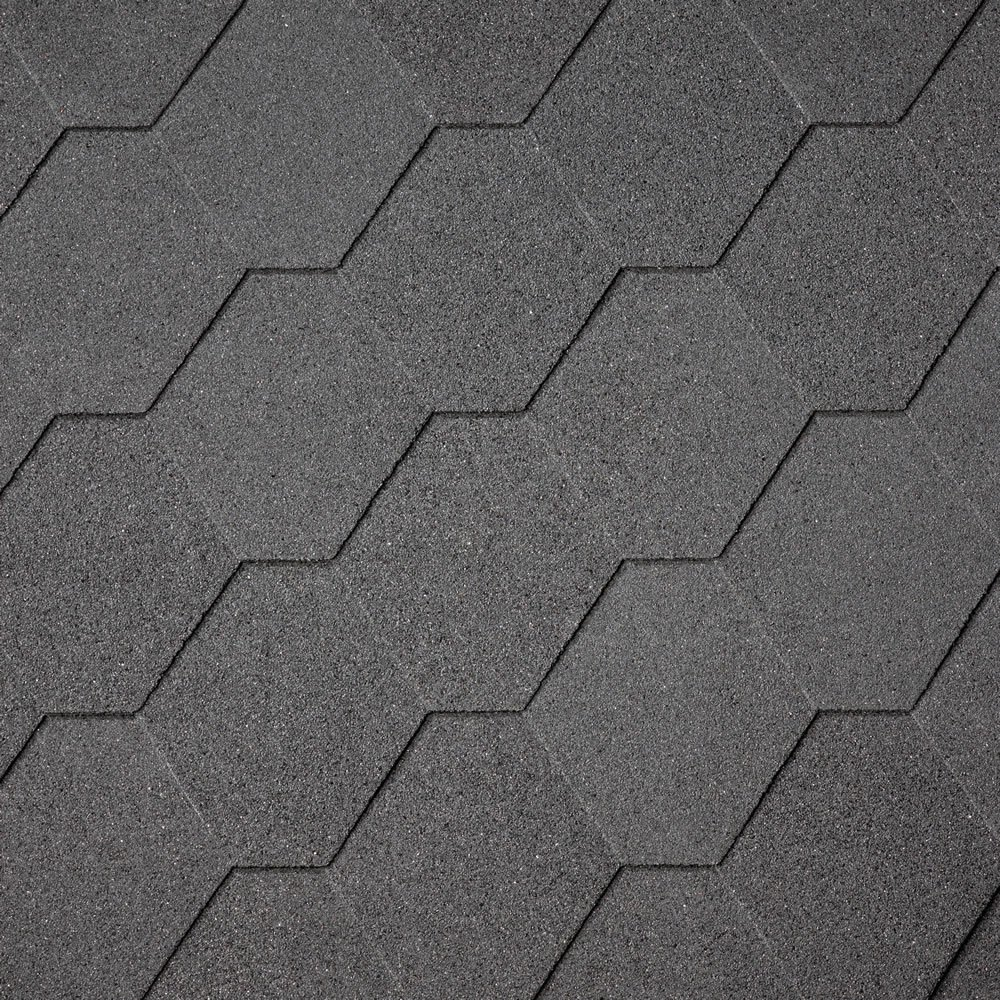 IKO Hexagonal Black Shingles