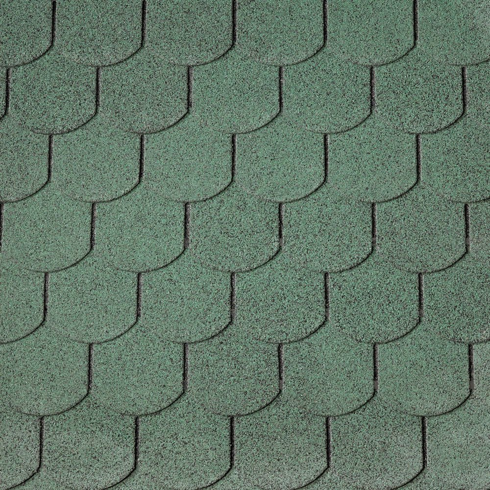 IKO Curved Green Felt Shingles