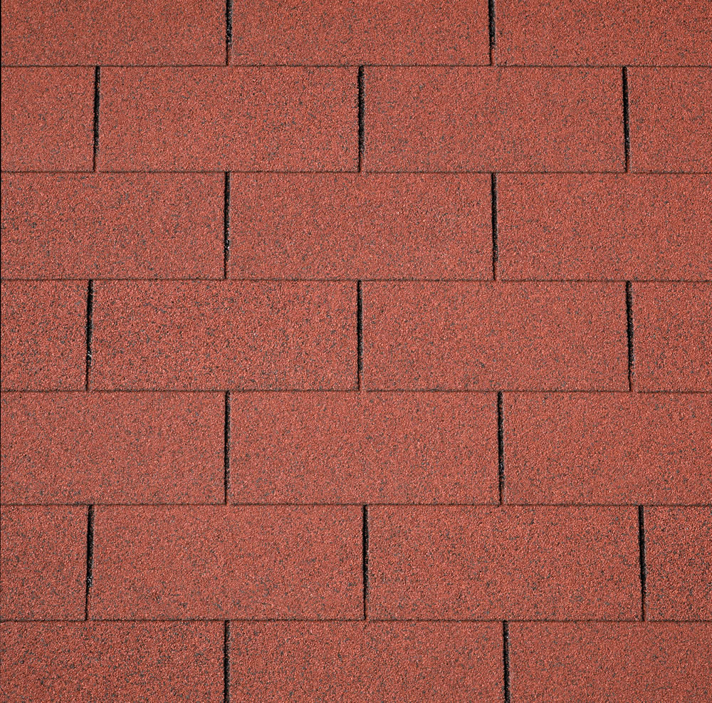 IKO Red straight felt shingles