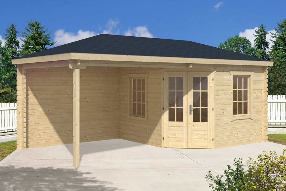 Jannie log cabin with a gazebo to the side