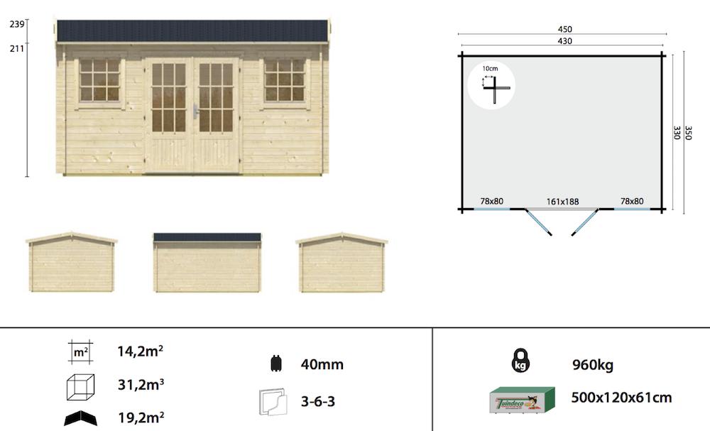 Jenny Log Cabin Specification Sheet