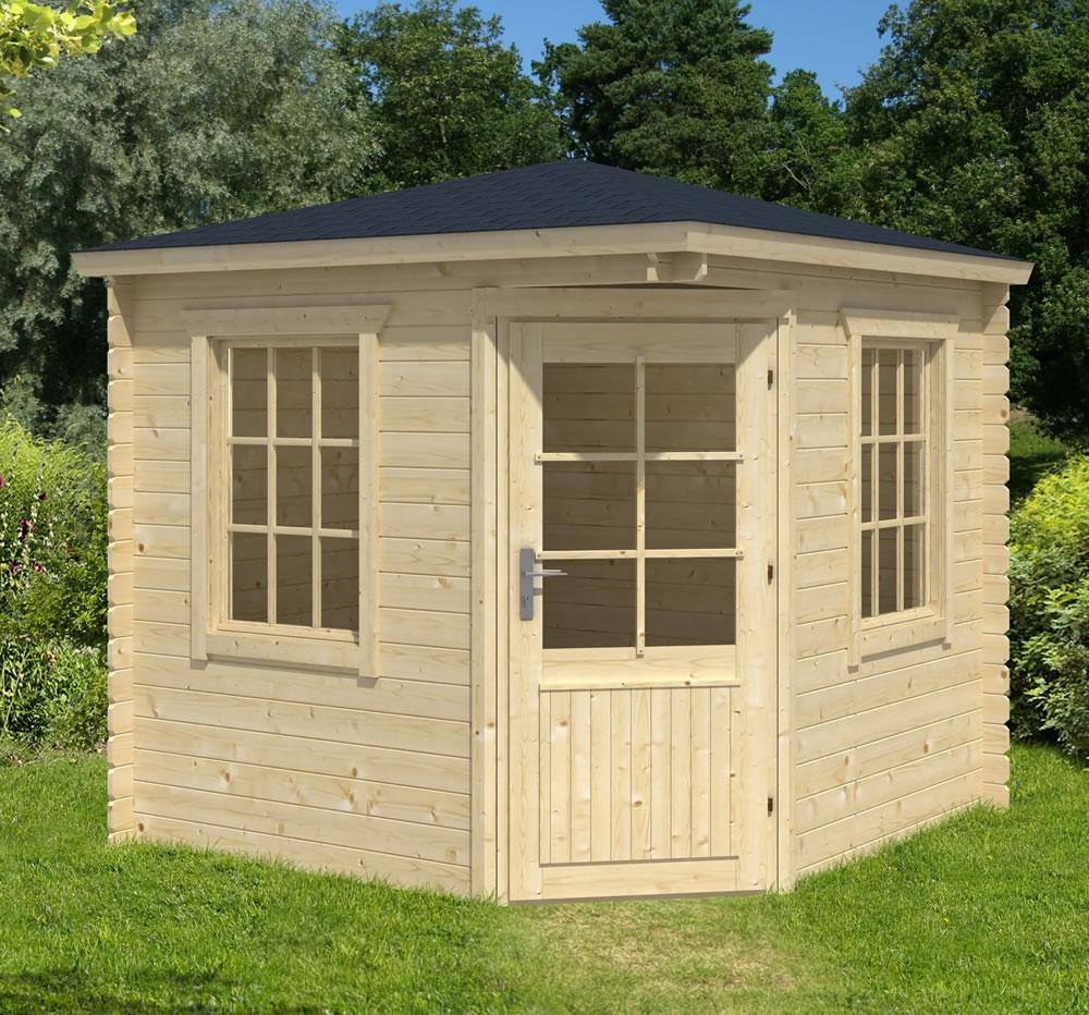 jos corner log cabin. Black Bedroom Furniture Sets. Home Design Ideas