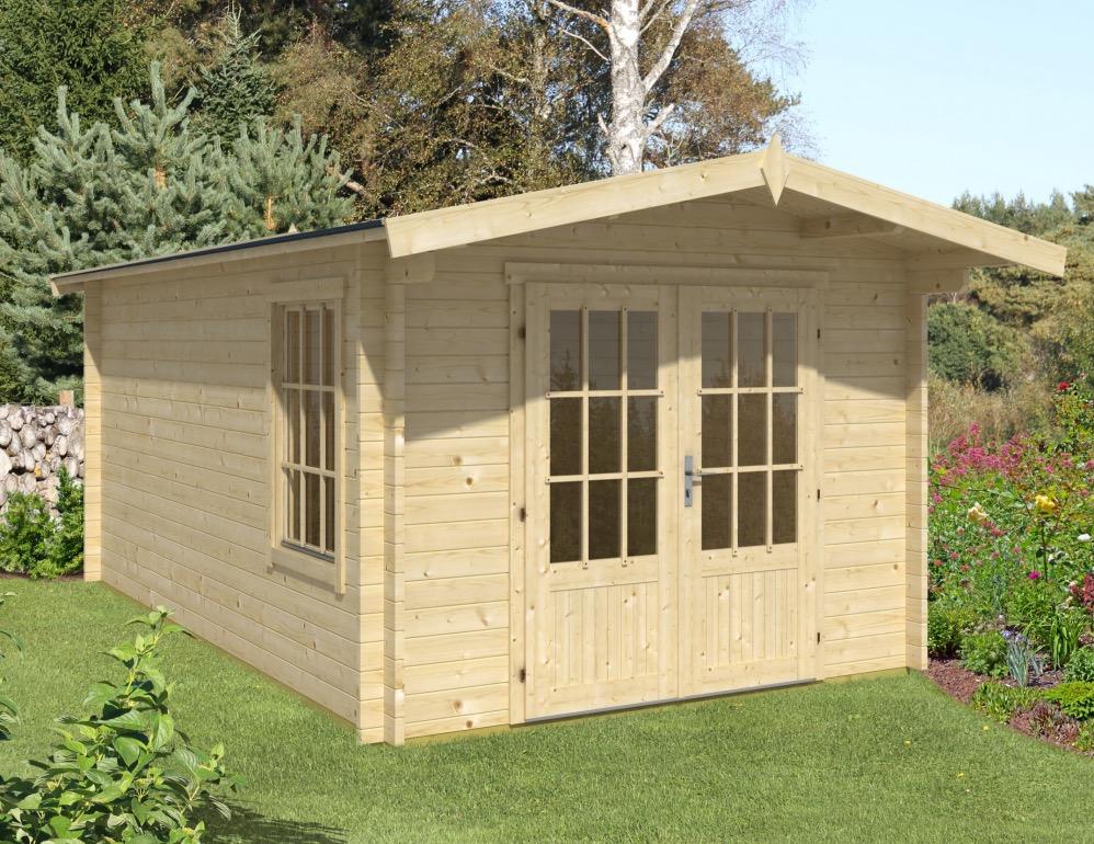 Julia apex 40mm double glazed log cabin 3m x 5m