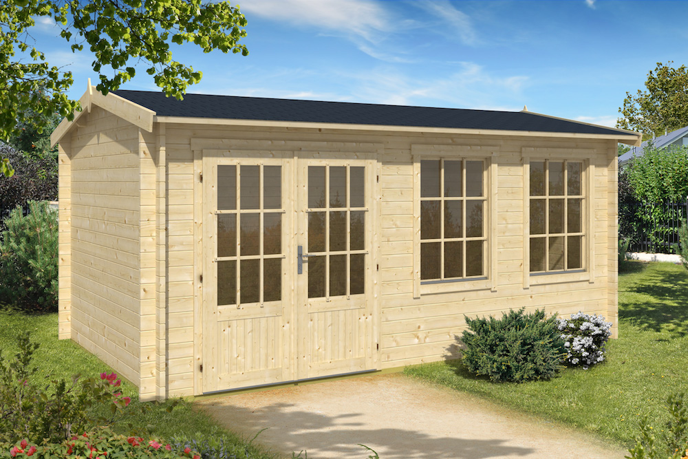 Justine 40mm double glazed log cabin