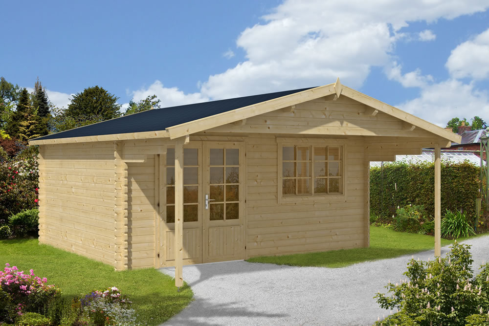 Klaas 45mm log cabin