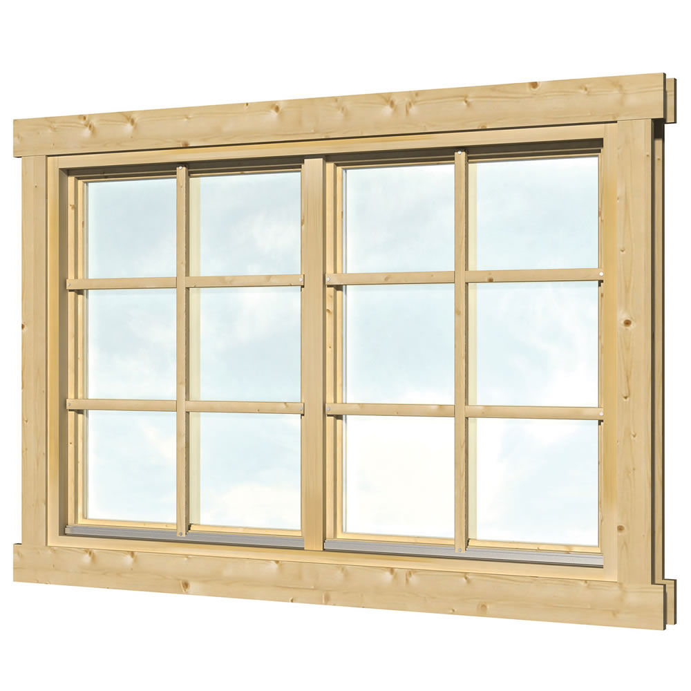 Double glazed windows for log cabins for Windows for log cabins