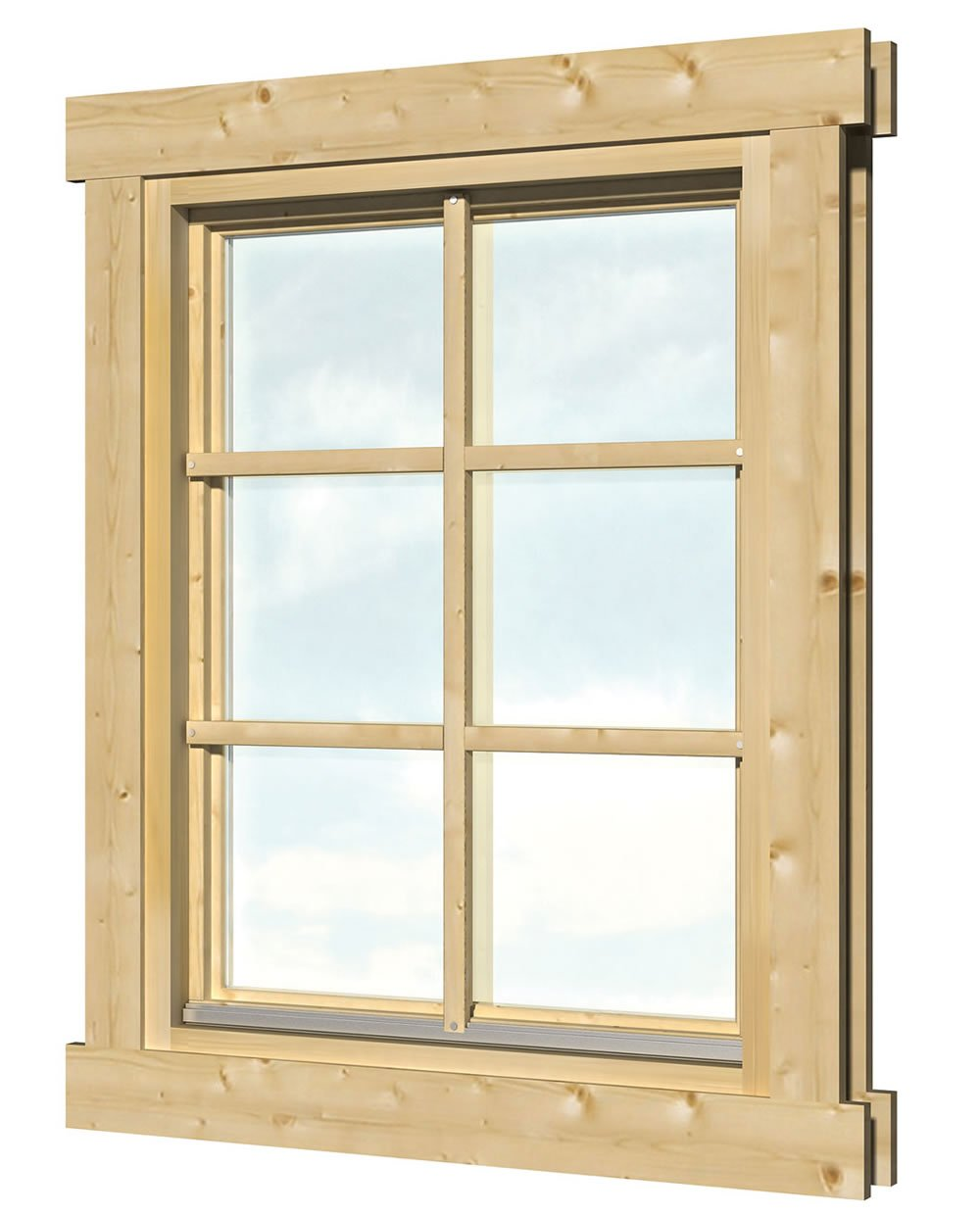 Double glazed windows for log cabins for Log cabin window