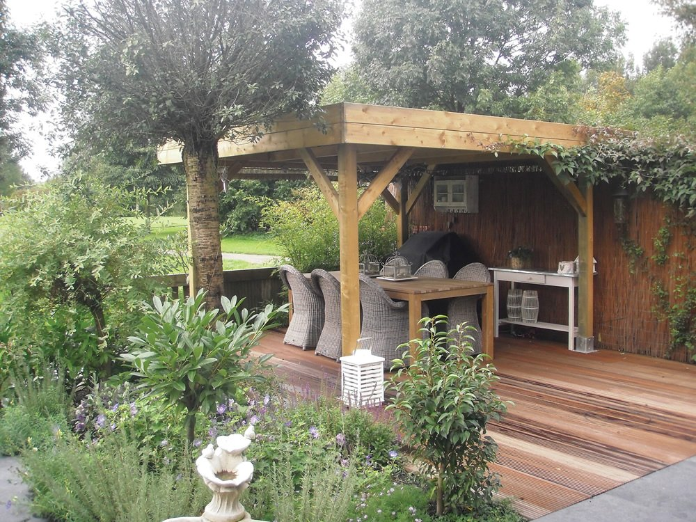 Large Modern Flat Roof Gazebo 4 55x4 55m