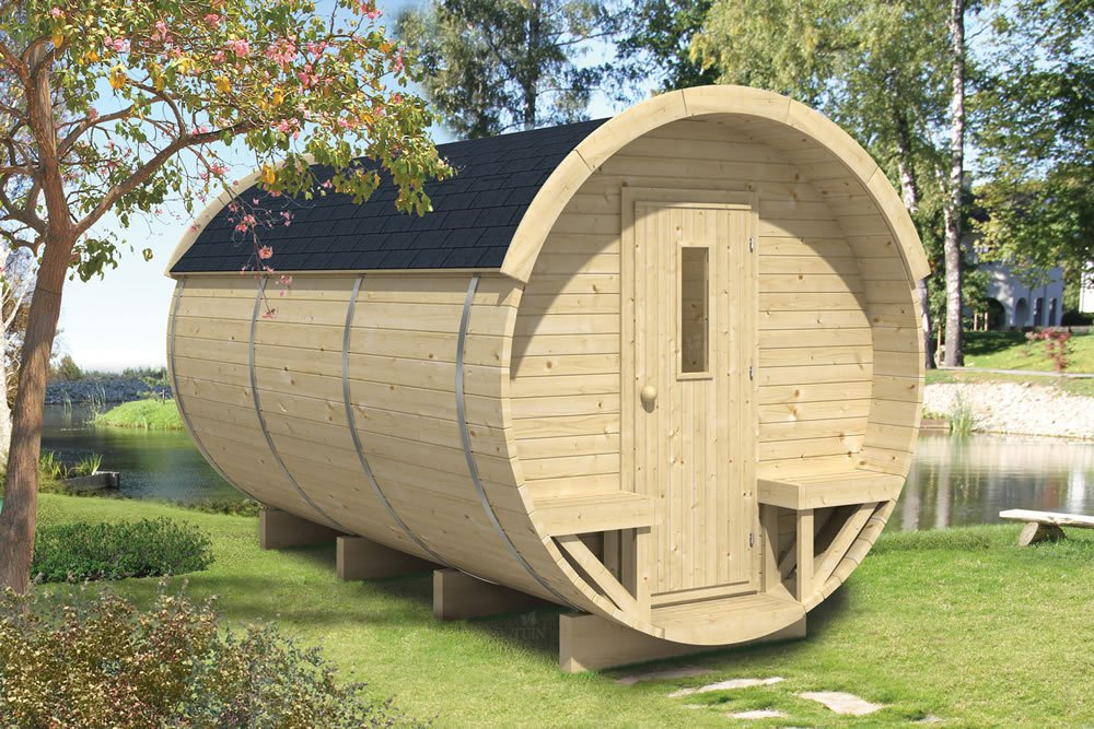 Superbe Log Cabin Barrel Office / Camping Pod ...