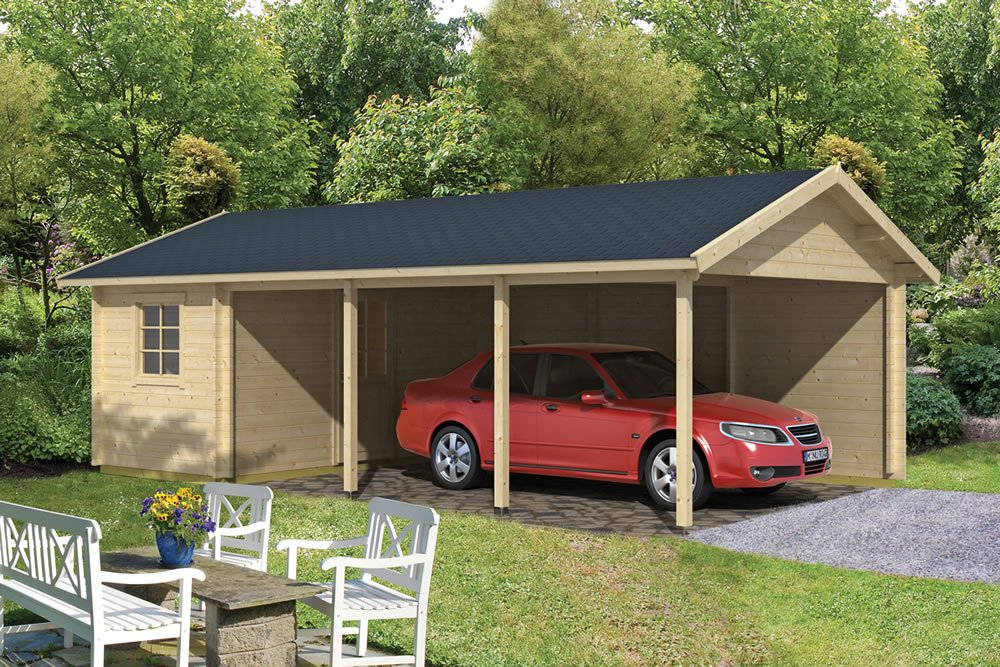 Log Cabin Carport Ever