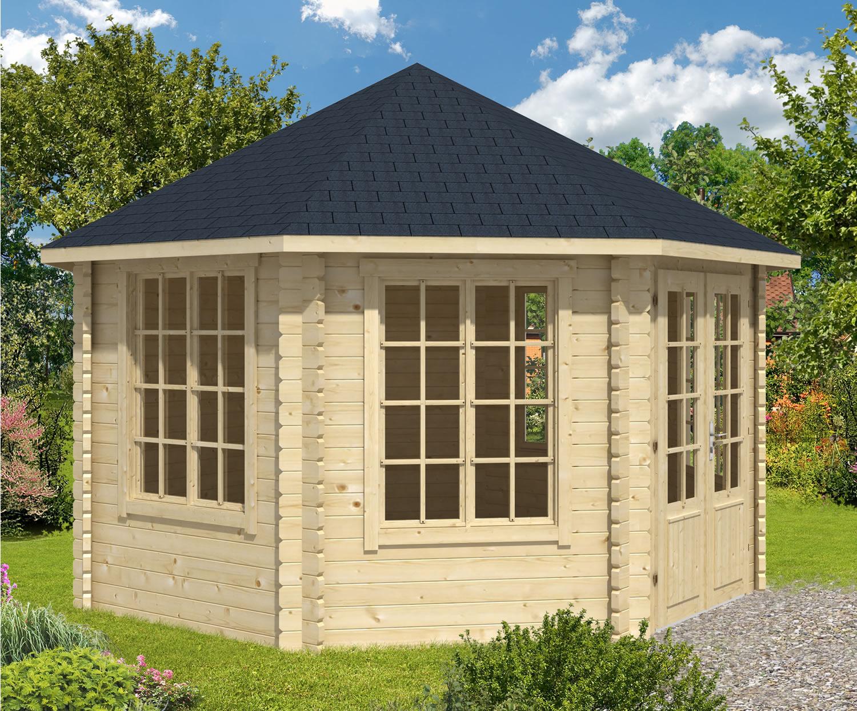 Lyn octagonal log cabin