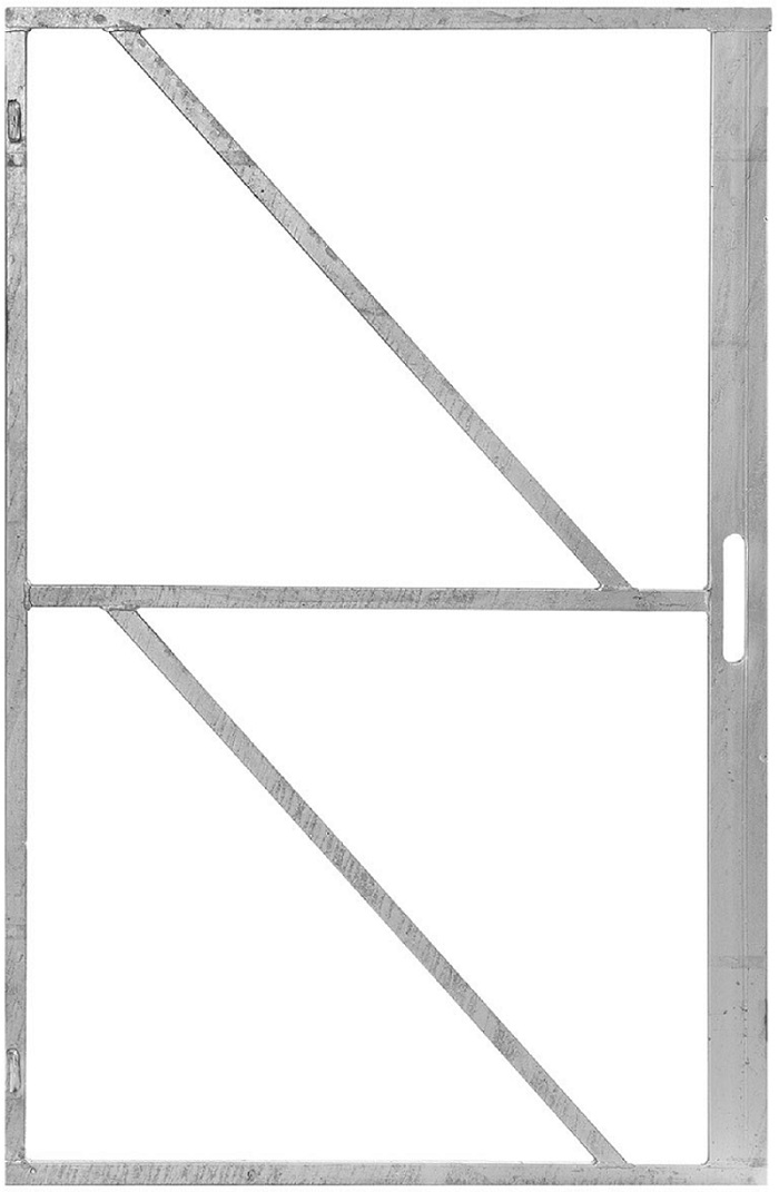 Metal Gate Frame With Lock Housing