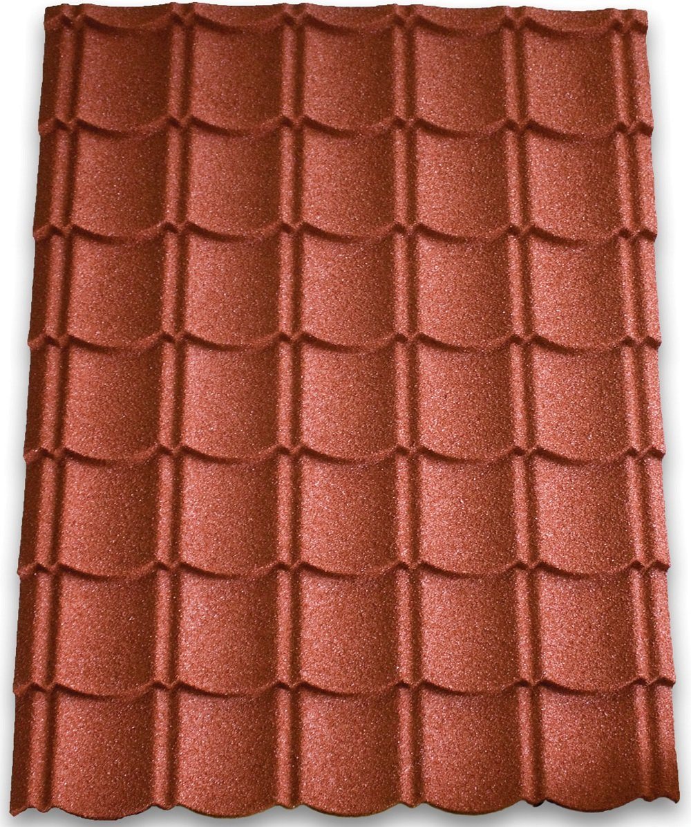 Metal Roof Tiles Red