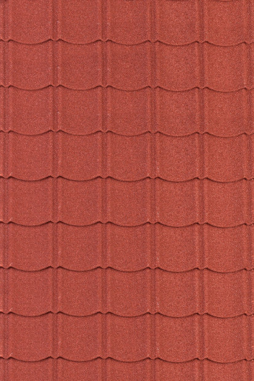 ... Metal Roof Tiles In Red