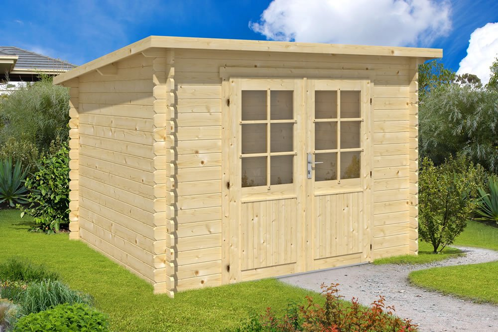 Mila pent roof log cabin