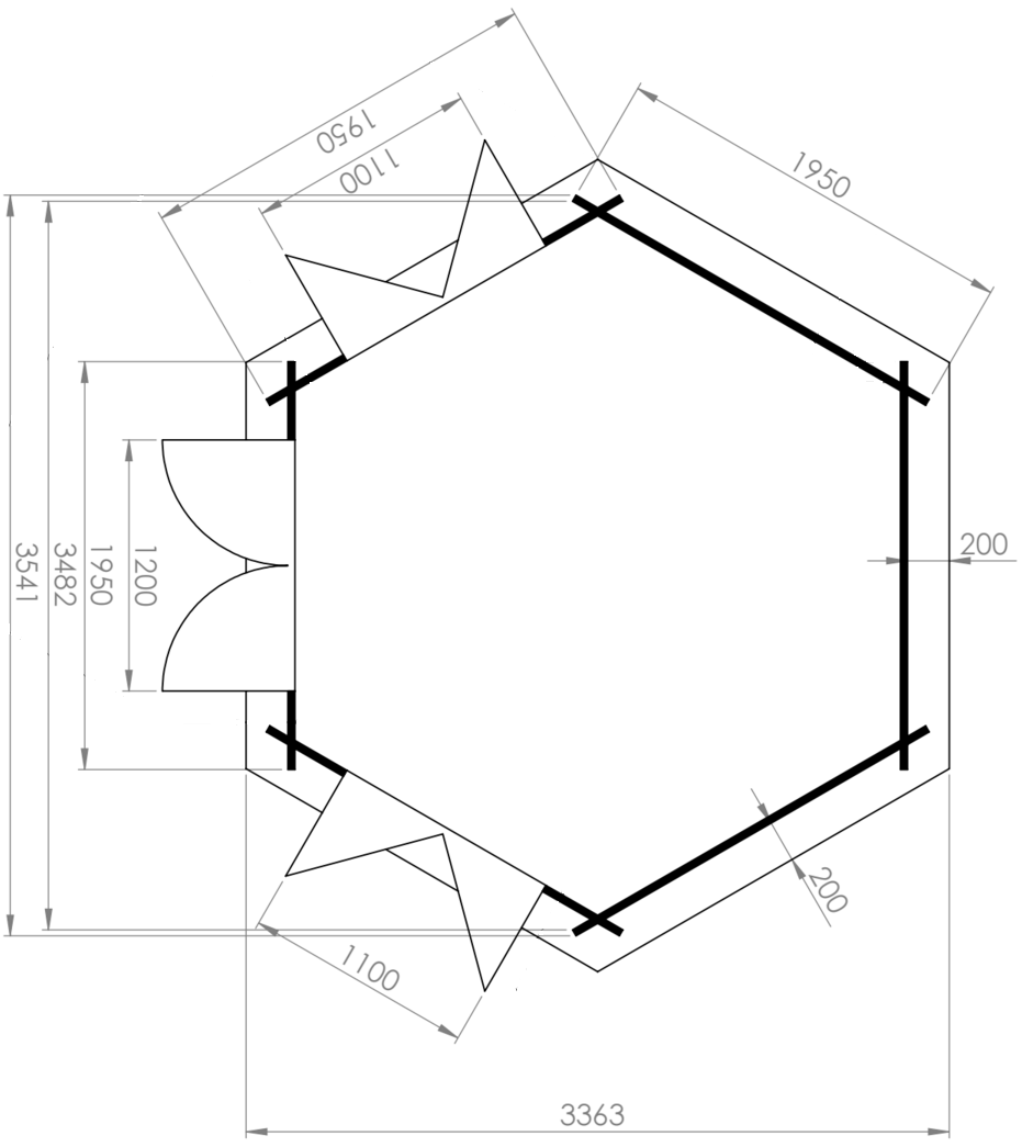 Nora Log Cabin Floor Layout