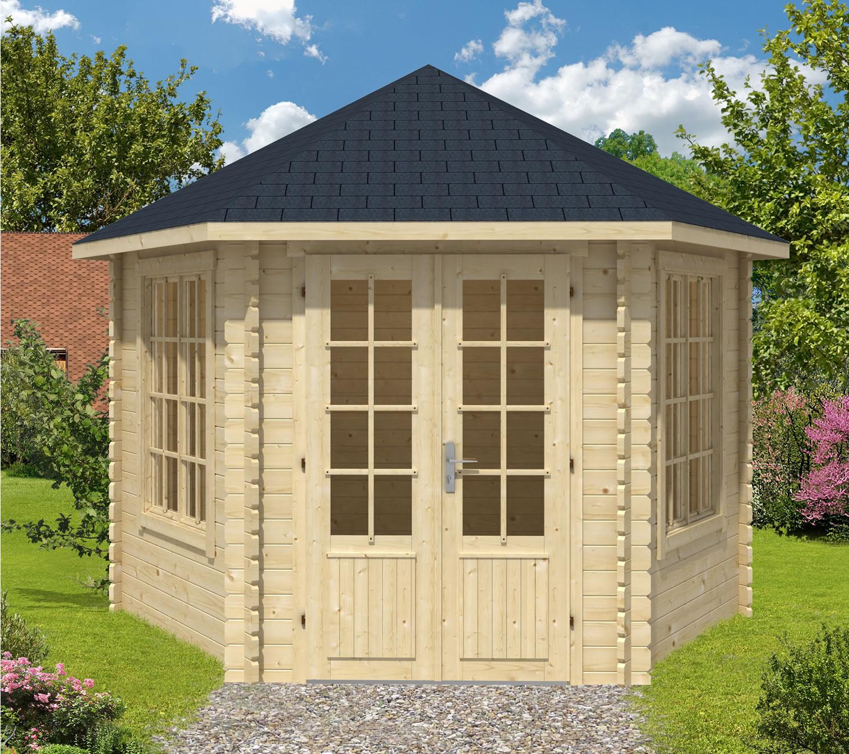 Octagonal Houses Nora Hexagonal Log Cabin 3 63x3 12m