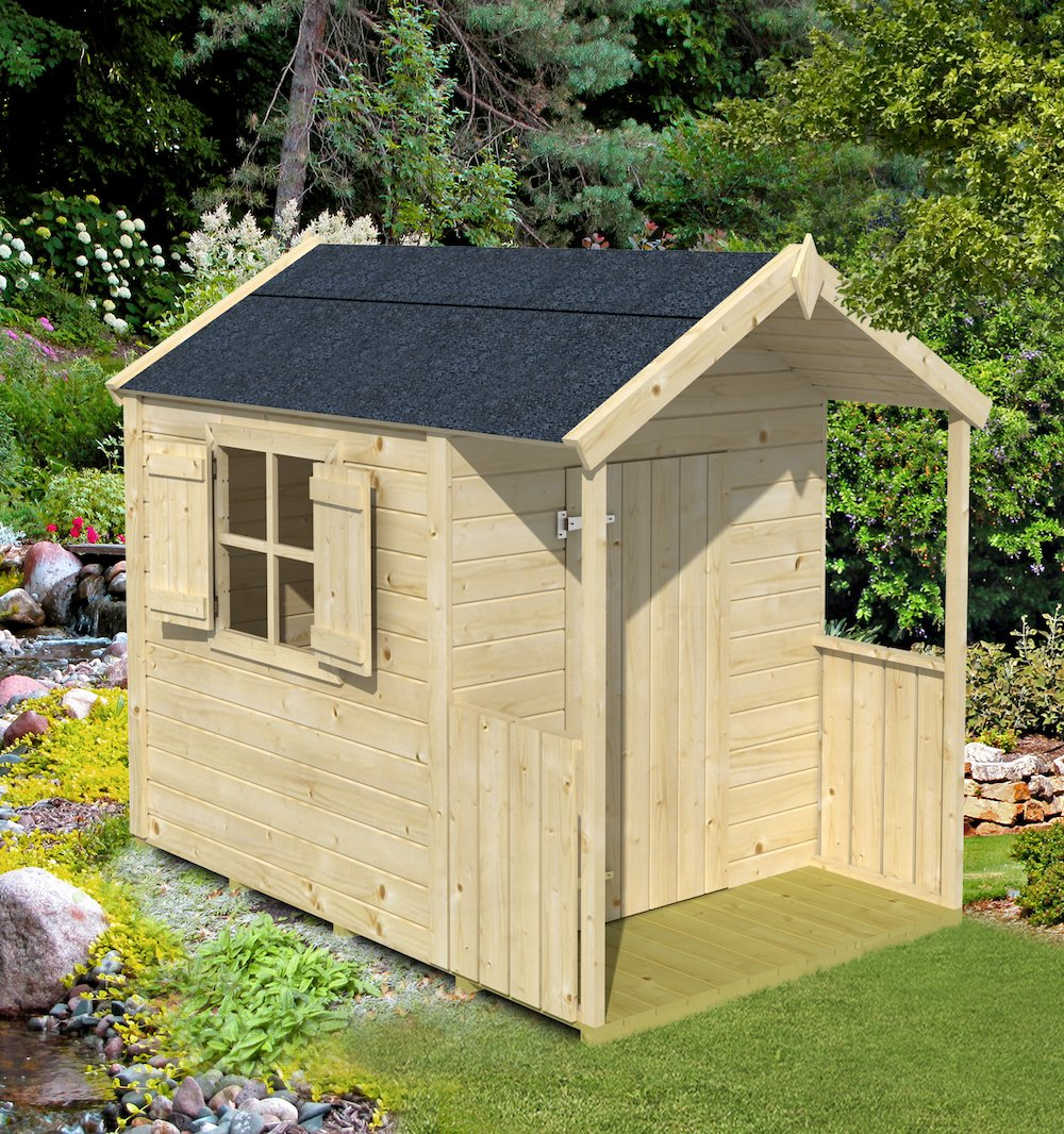 Pinoccio playhouse with 16mm untreated spruce