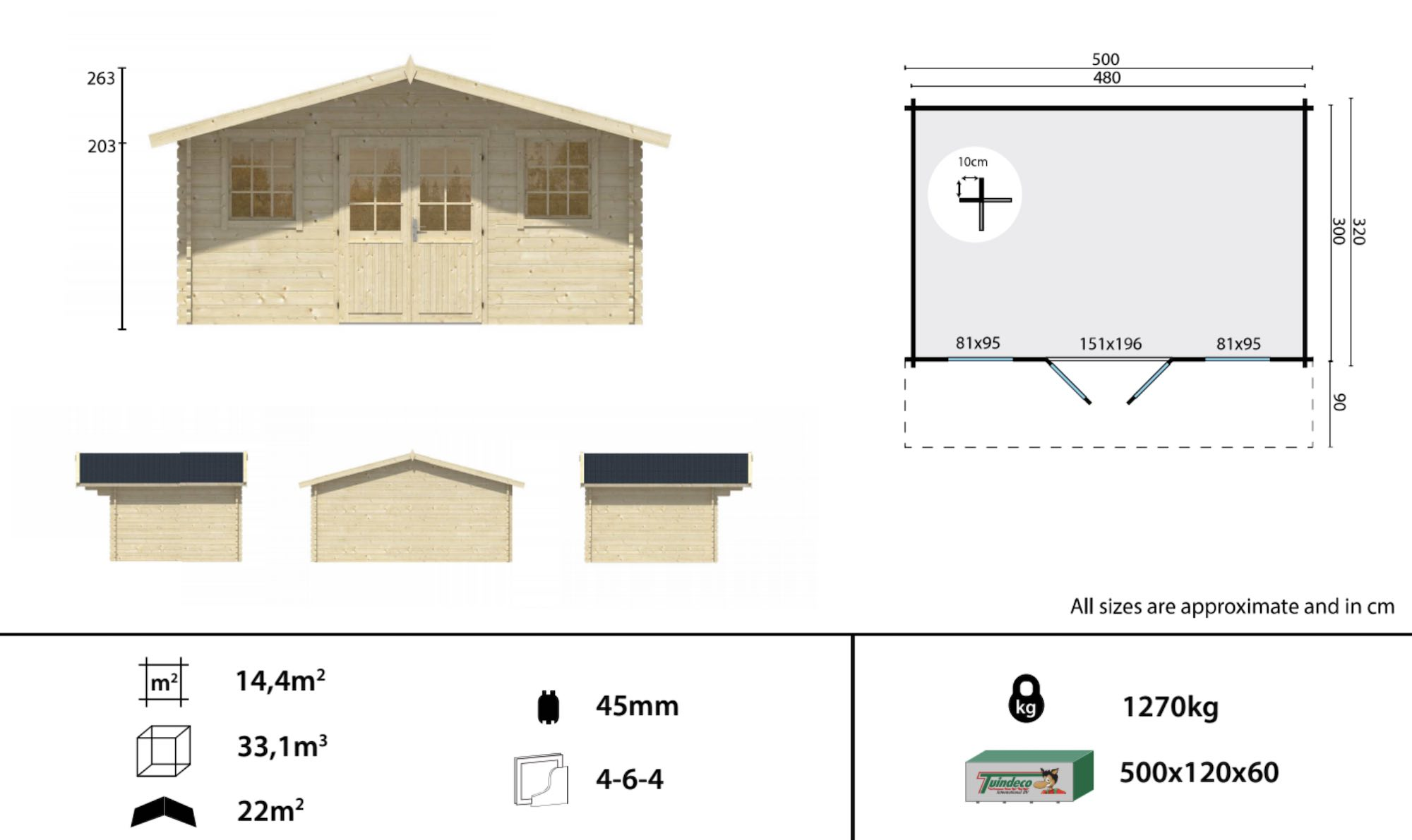 Rome log cabin spec