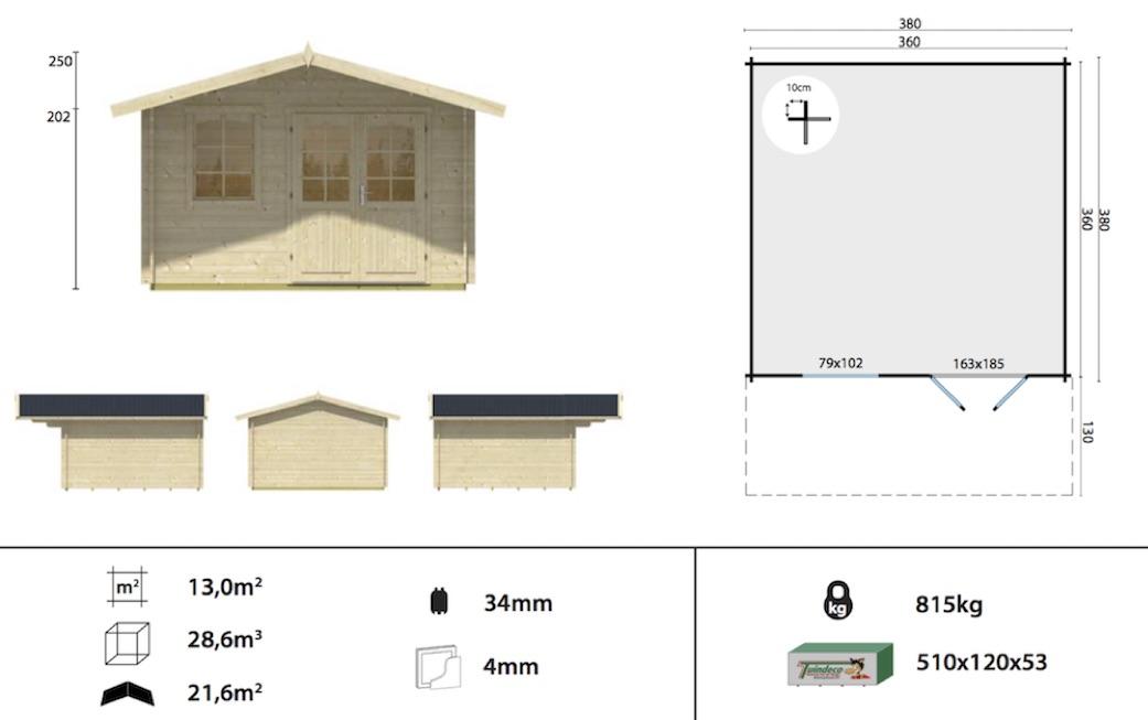 Rosenheim Log Cabin Spec