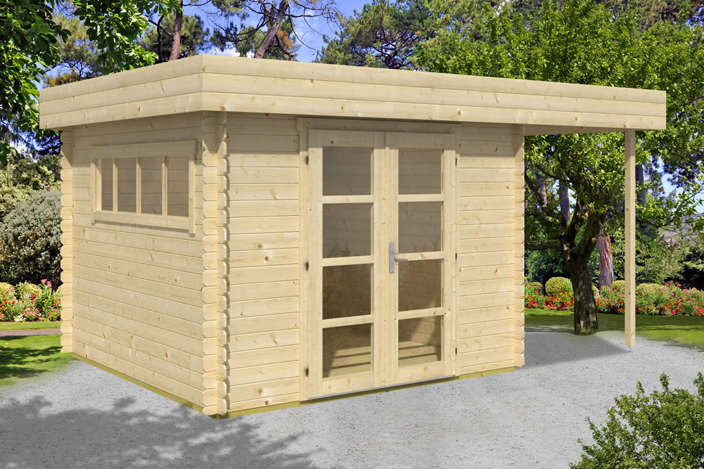 Rotterdam modern style log cabin.